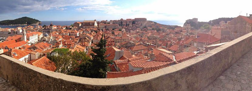 3 days in Dubrovnik itinerary - Shows the terracotta roof houses of Dubrovnik