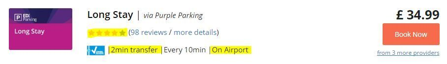 Airport parking guide - types of car parks