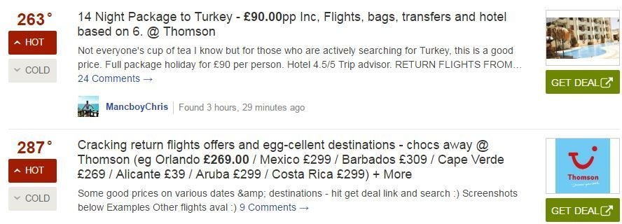 HotUKDeals holidays - How to find cheap holidays