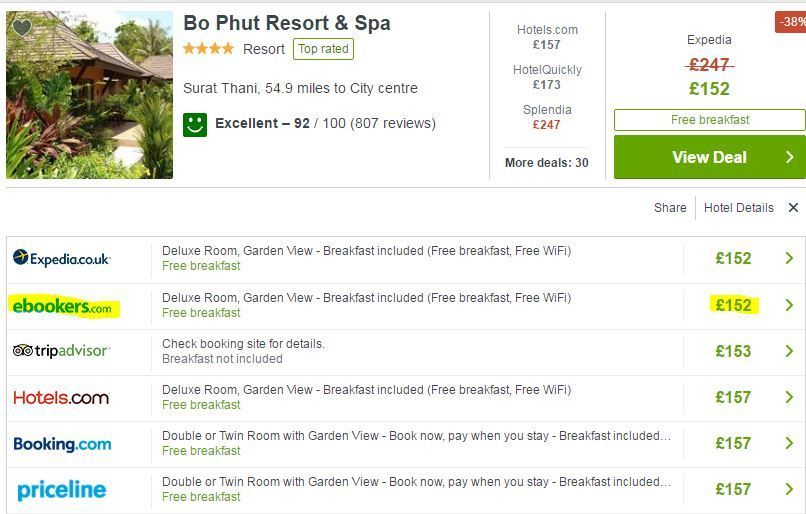 Trivago hotel search preview - how to find cheap hotel prices