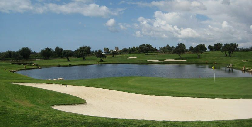 Shows an Algarve golf course