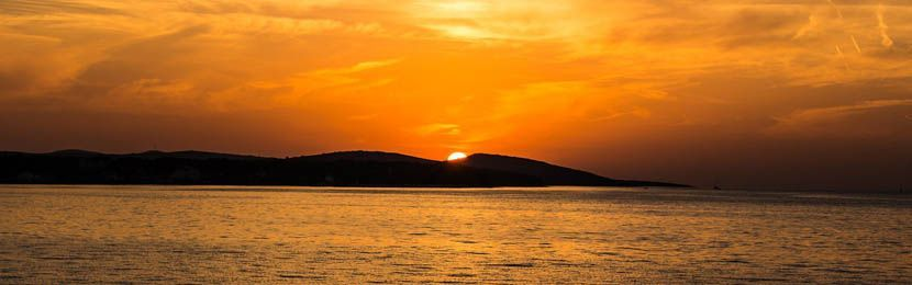 Croatia holiday guide banner - croatia sunset