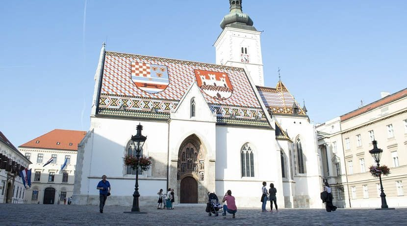 Where to go in Croatia - Shows a church in Zagreb