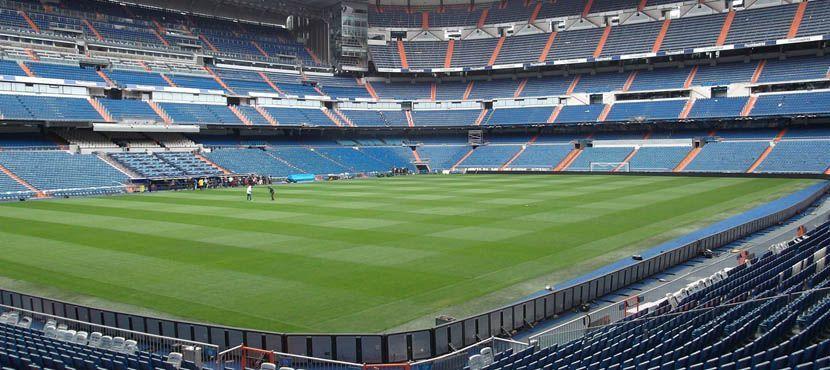 Shows Real Madrid stadium interior