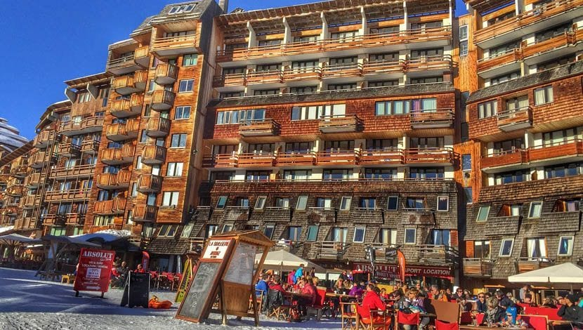 The best ski resorts in France - Shows a large hotel in Avoriaz