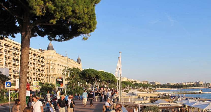 La Croisette Promenade in Cannes - Cannes 2 day itinerary