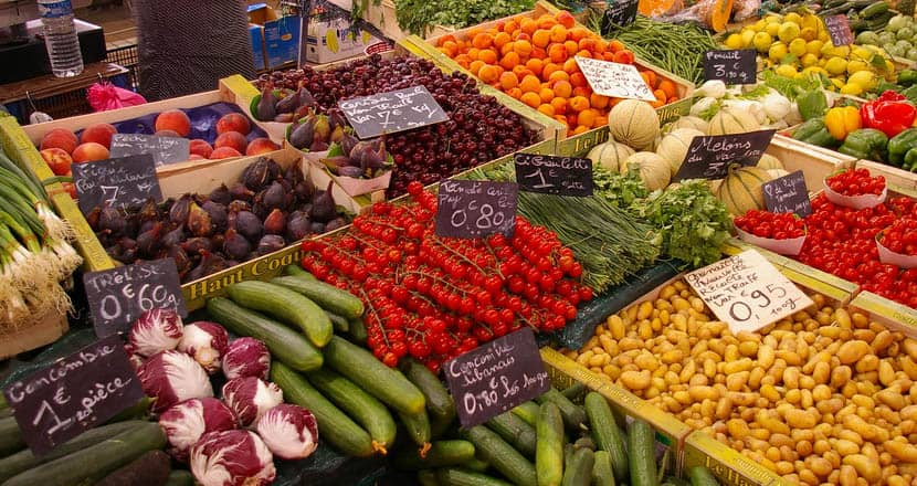 MarchéForville fresh produce market in Cannes