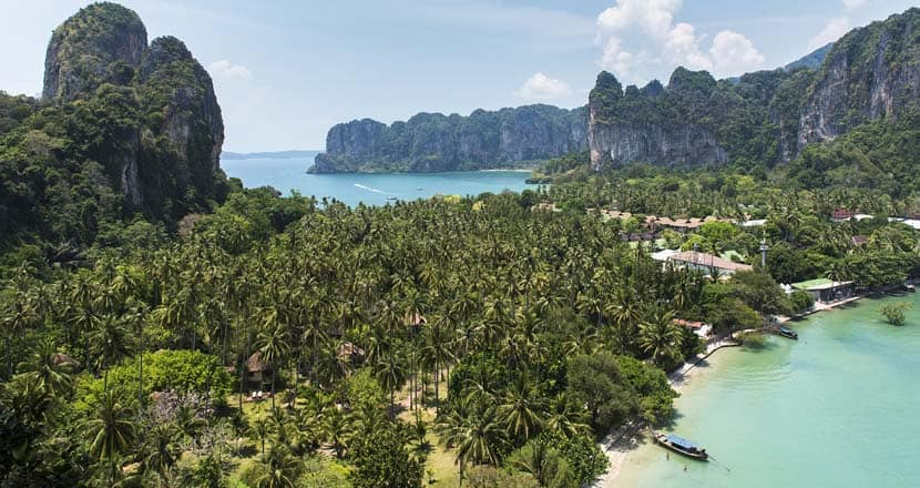 Railey Beach view - Best places to visit in Thailand