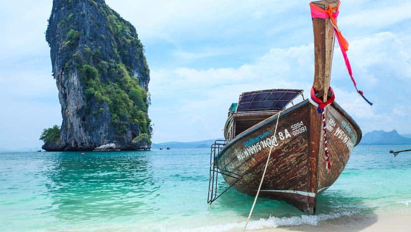 Railey Beach Thailand long tail boat - best places to visit in Thailand