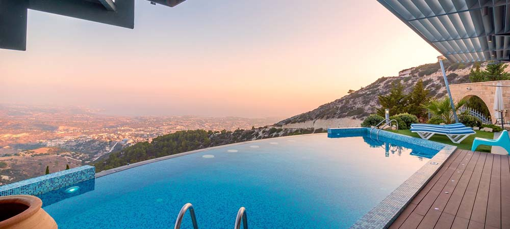 Best time to book a summer holiday -  Shows a hotel infinity pool
