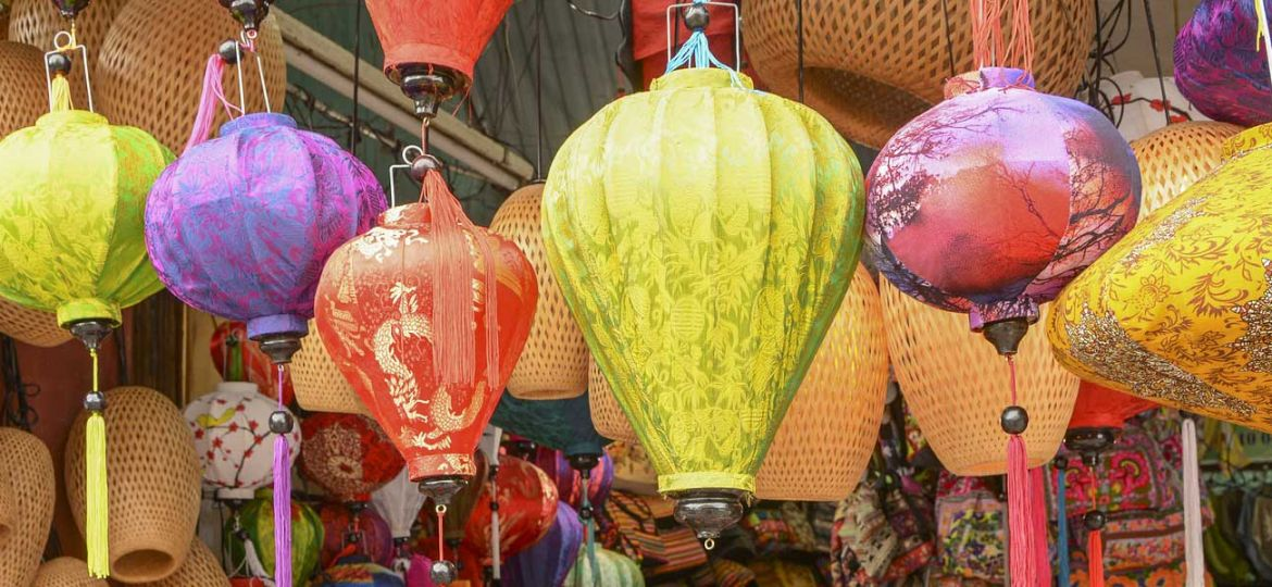 Shows a row of colourful lanterns - Top things to do in Hoi An