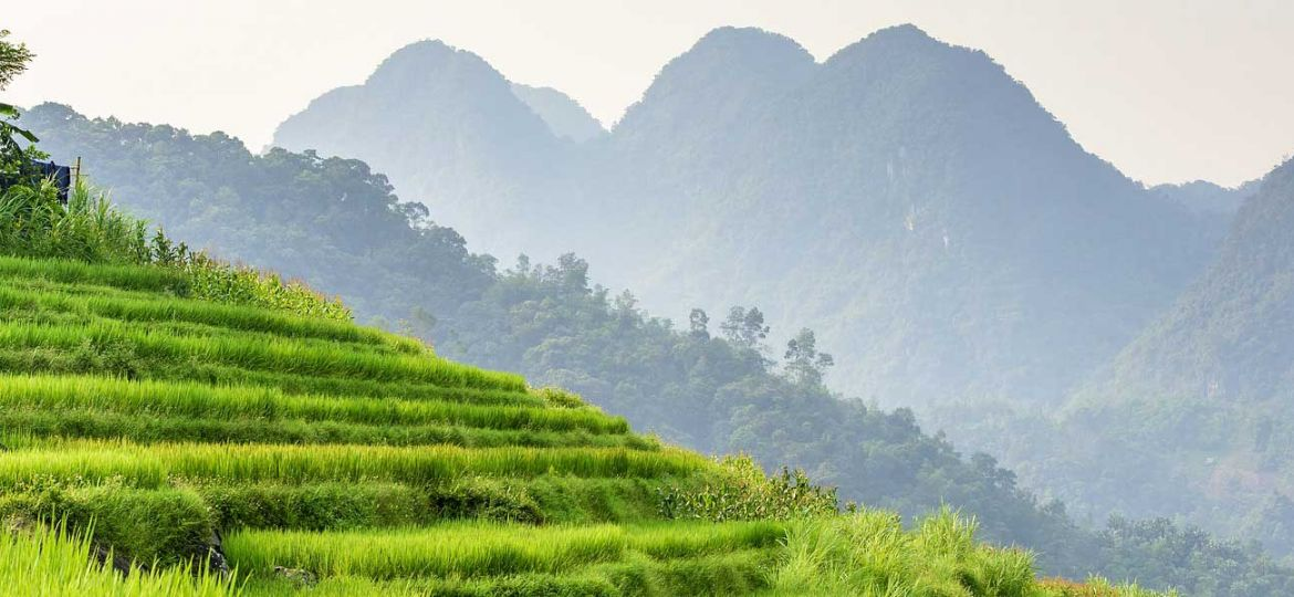 Vietnam two week itinerary - Shows the Vietnam countryside