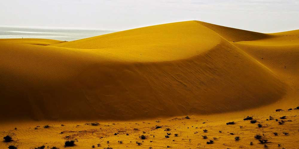 Mui Ne - Phan Thiet - Shows golden sand dunes