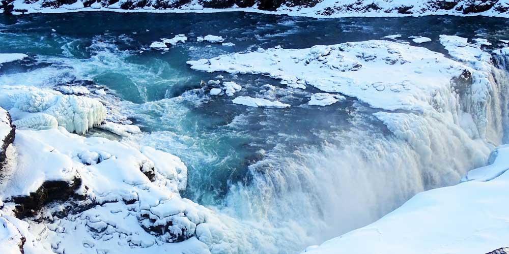 Shows Gulfoss Waterfall - Iceland 3 day itinerary