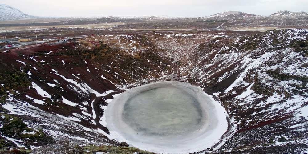 Shows Kerid Volcanic Crater