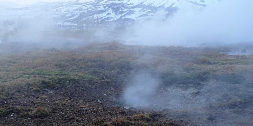 Iceland thermal landscape