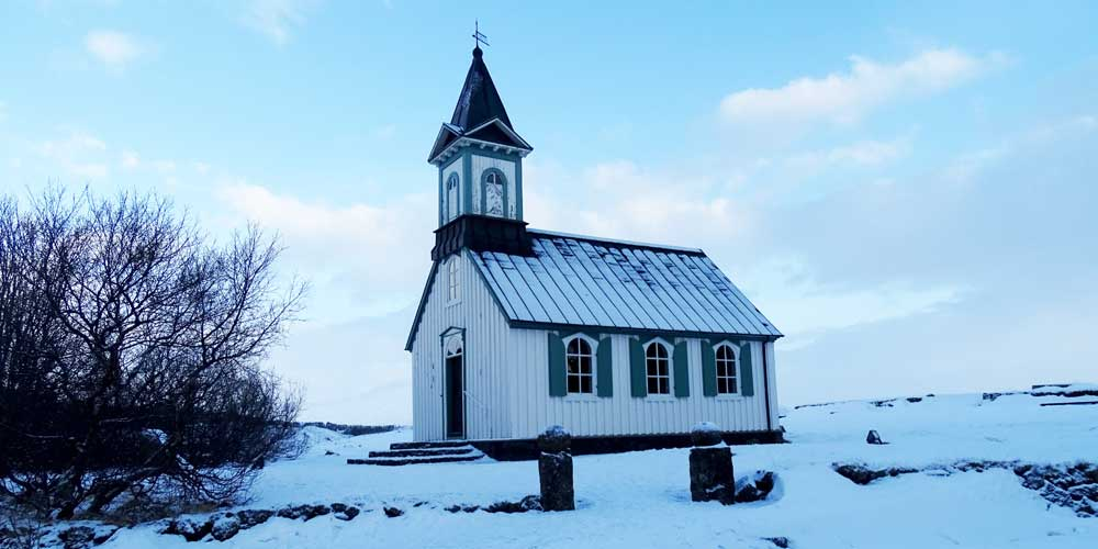 Thingvellir National Park Iceland - small church