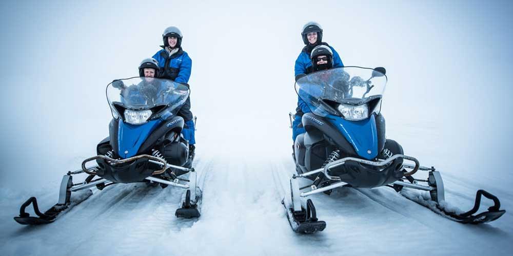 Iceland adventure activities - snowmobile tour