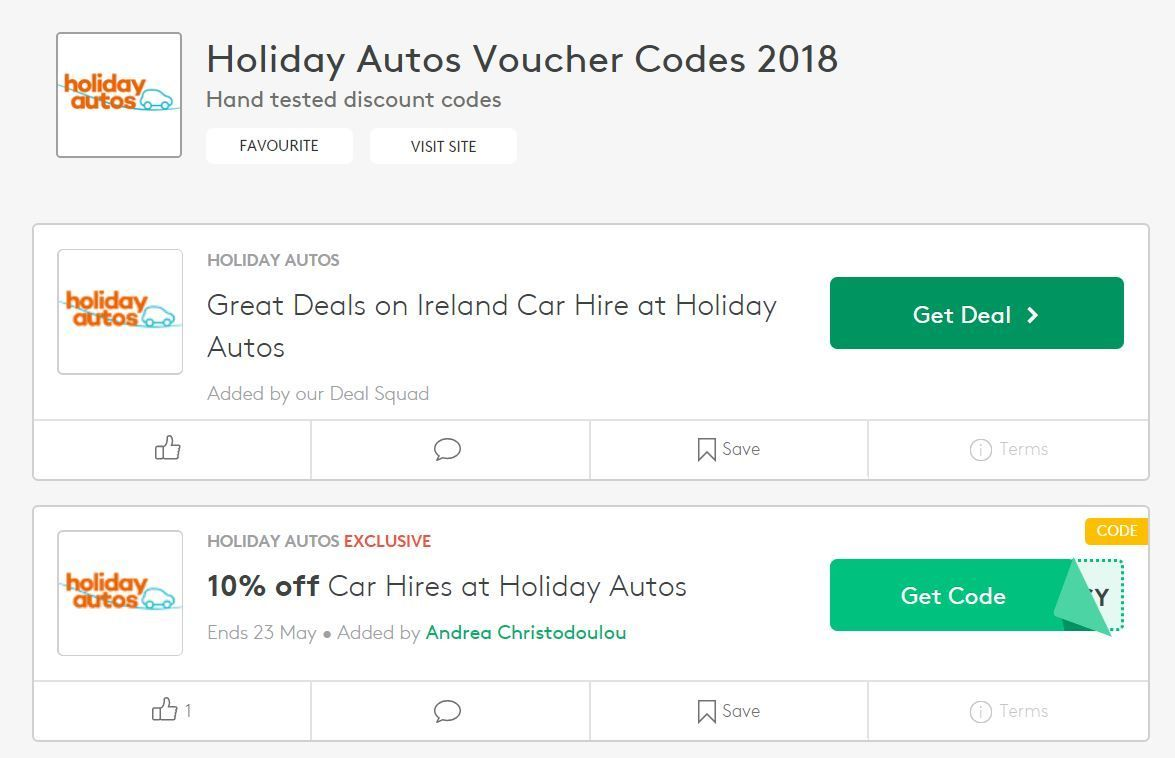 Car rental voucher codes and cashback sites - cheap car hire