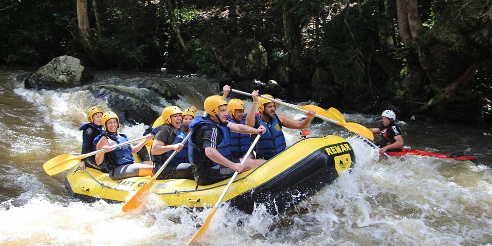 White water rafting- Adventurous things to do in Bali