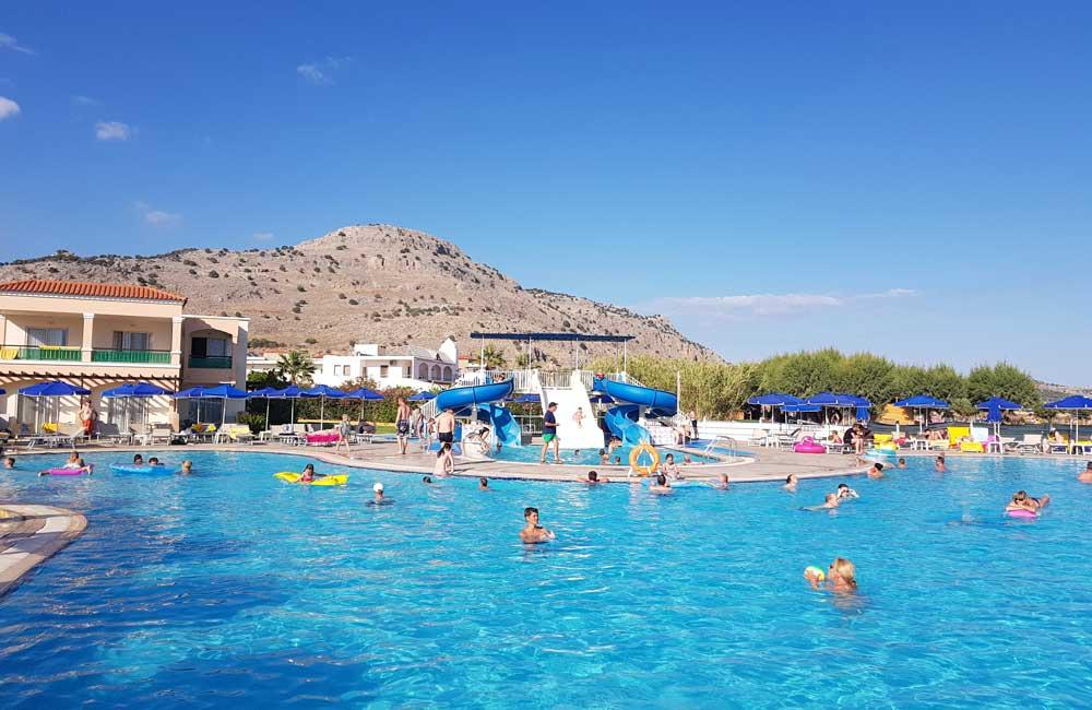 Pool with slide - Lindos Princess Beach Hotel