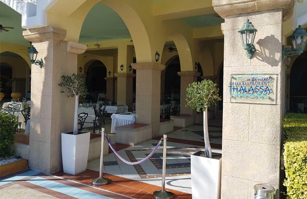 Shows Thalassa Restaurant exterior