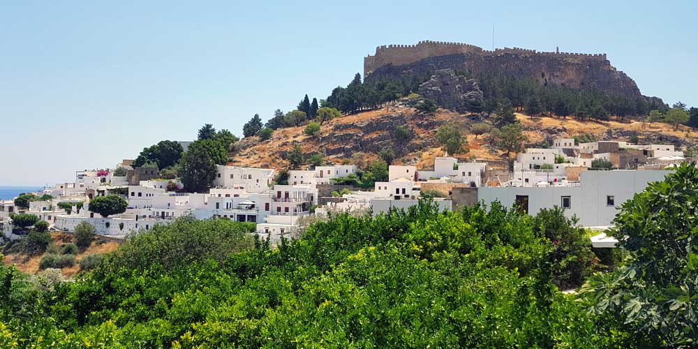 Places to visit in Lindos - Shows Lindos town