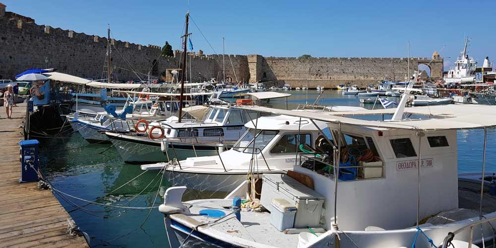 Rhodes Town Harbour - Marina