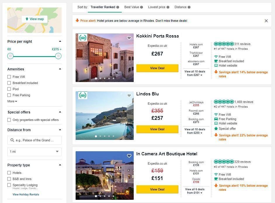 Best hotels in Rhodes - Cheap Rhodes Holidays