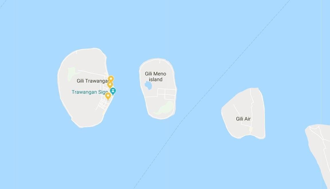 Gili Islands travel guide - What to see and do - map