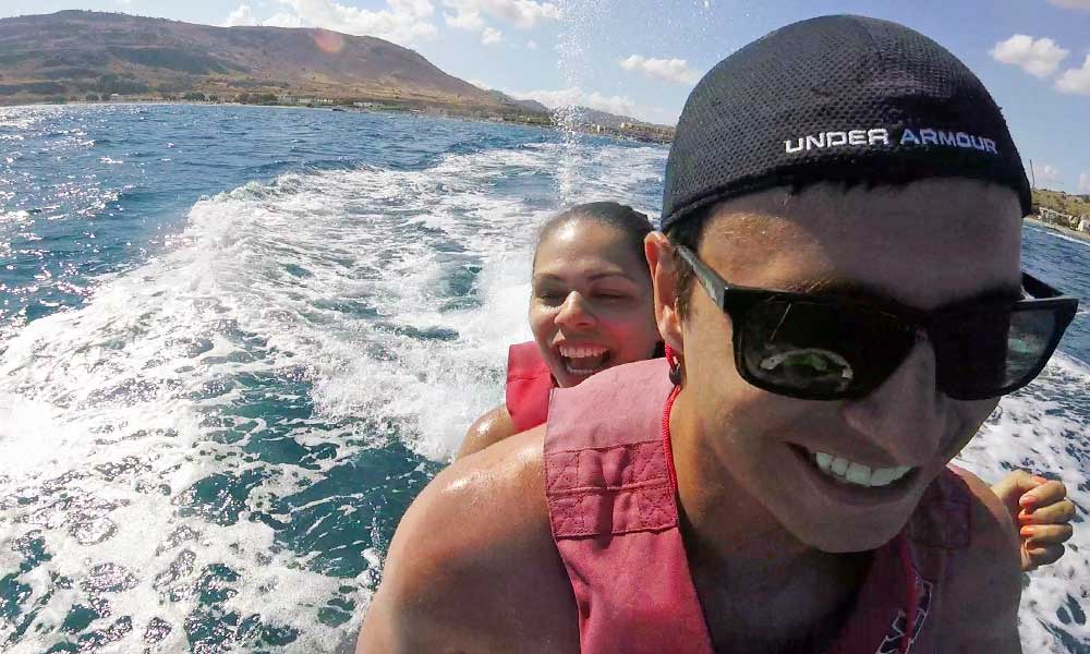 Romantic things to do in Rhodes - couples' water sports