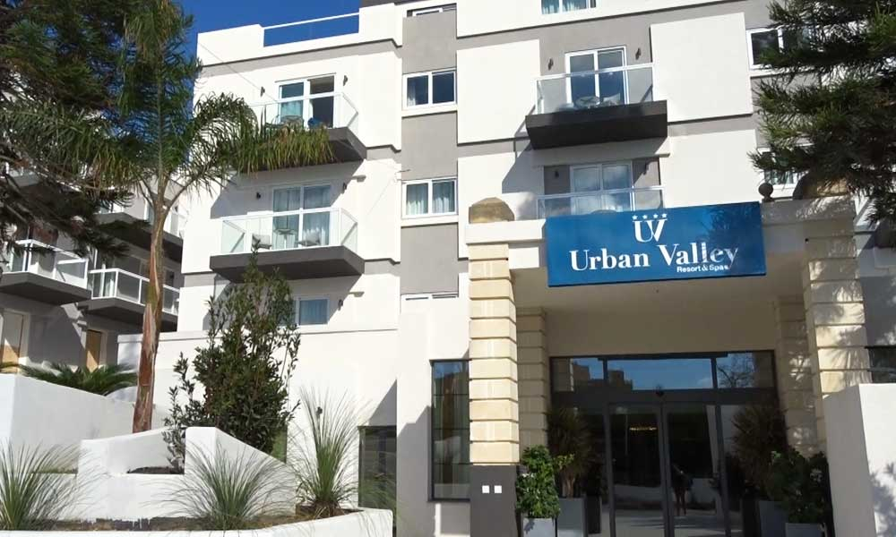 Urban Valley Resort front entrance