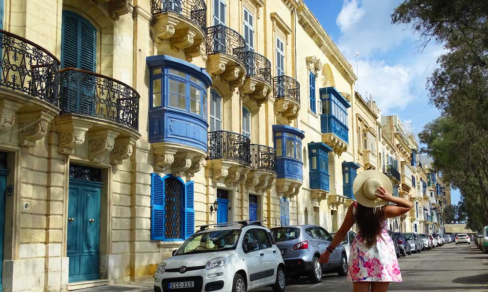The best place to stay in Malta - Shows Valletta streets