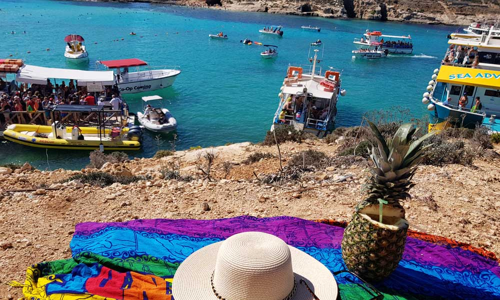 Places to visit in Malta - Blue Lagoon, Comino