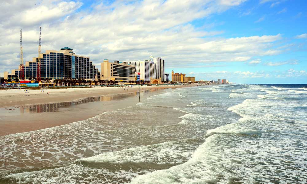 Daytona day trips and excursions - depicts waves on a beach