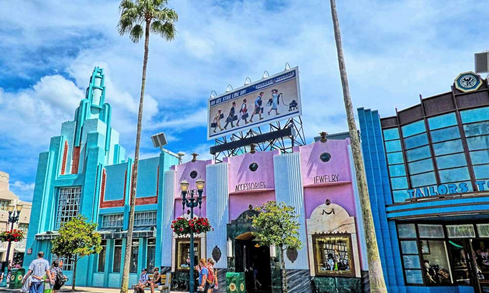 Depicts Disney Hollywood Studios street view