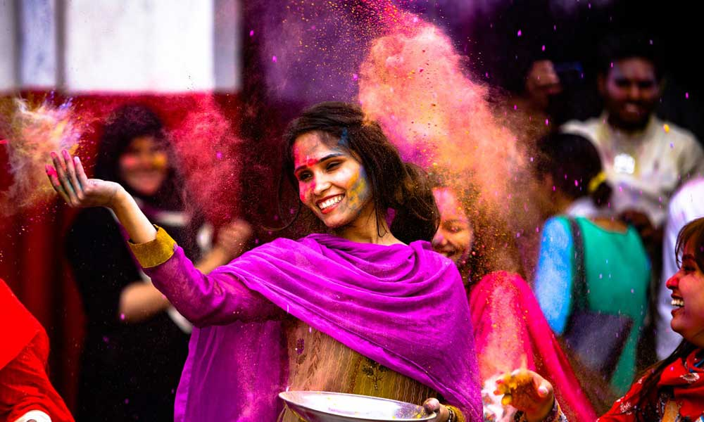 Where to go on holiday in March - Holi Festival of colour