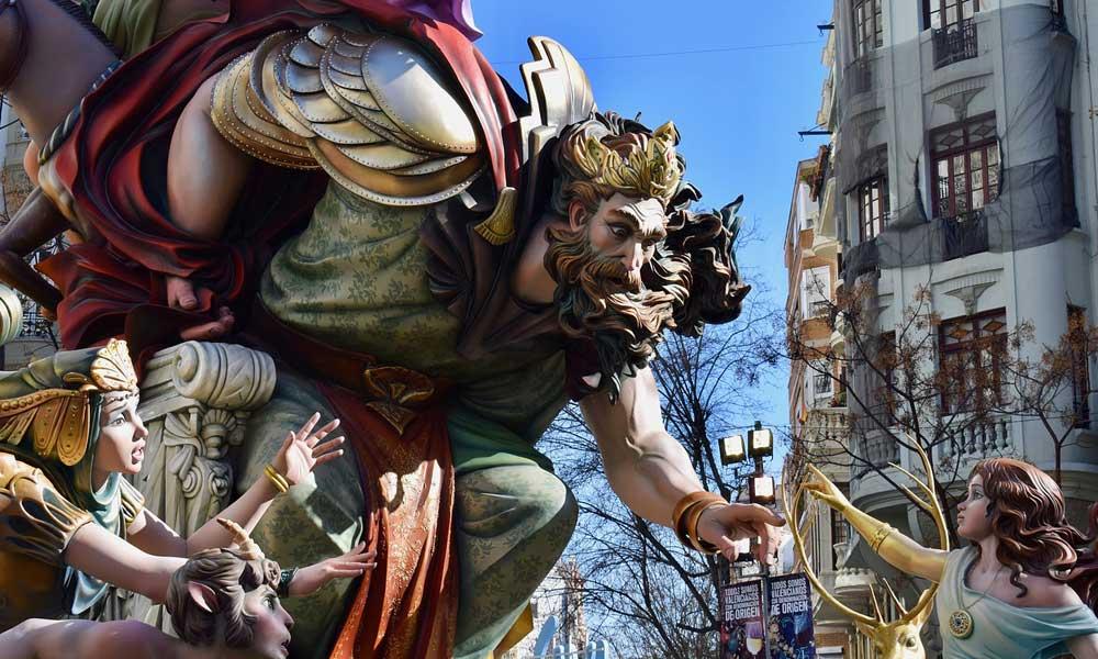 Valencia Las Fallas parade floats - March holiday ideas