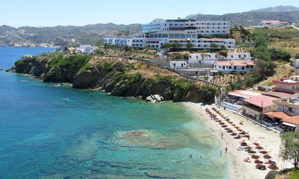 Crete April holiday destination - depicts coastline of Crete