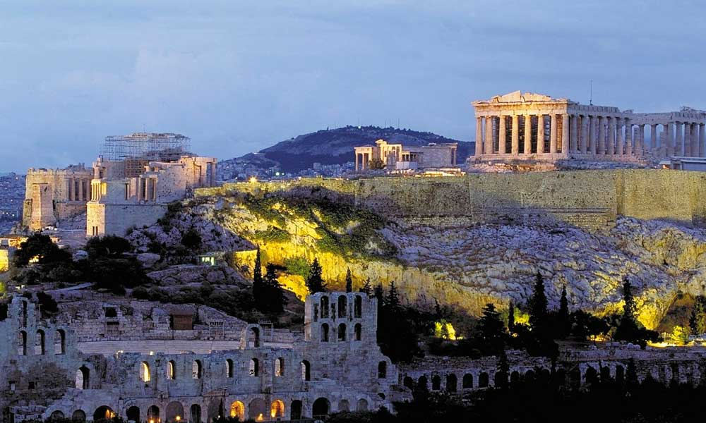 May city break ideas - depicts Athens Acropolis