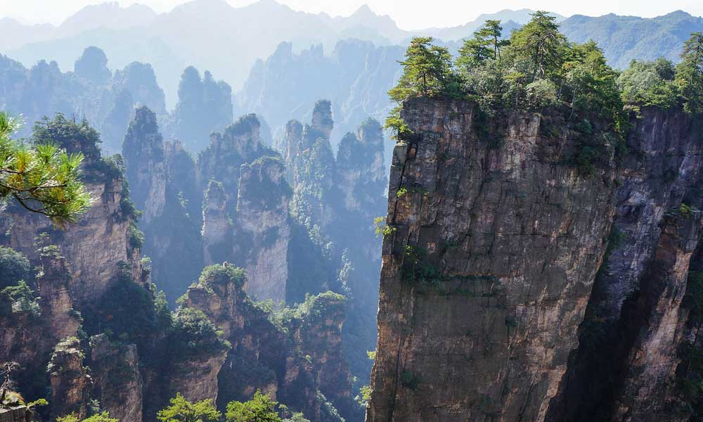 China adventure holiday - depicts Zhangjiajie mountains