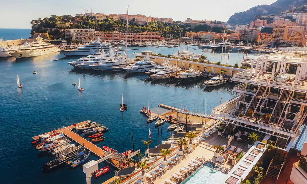 Where to go on holiday in May - Monaco marina