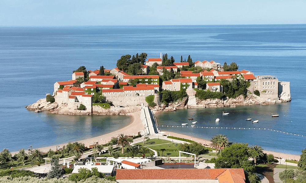 Cheap Europe beach holidays - depicts Sveti Stefan island
