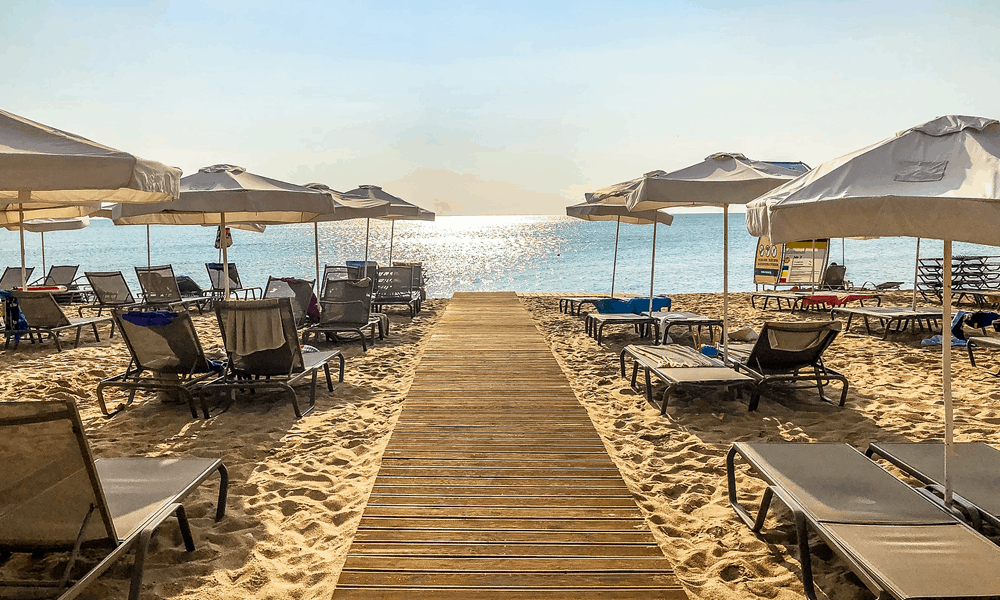 Cheap beach holiday in Europe- depicts Sunny Beach,Bulgaria