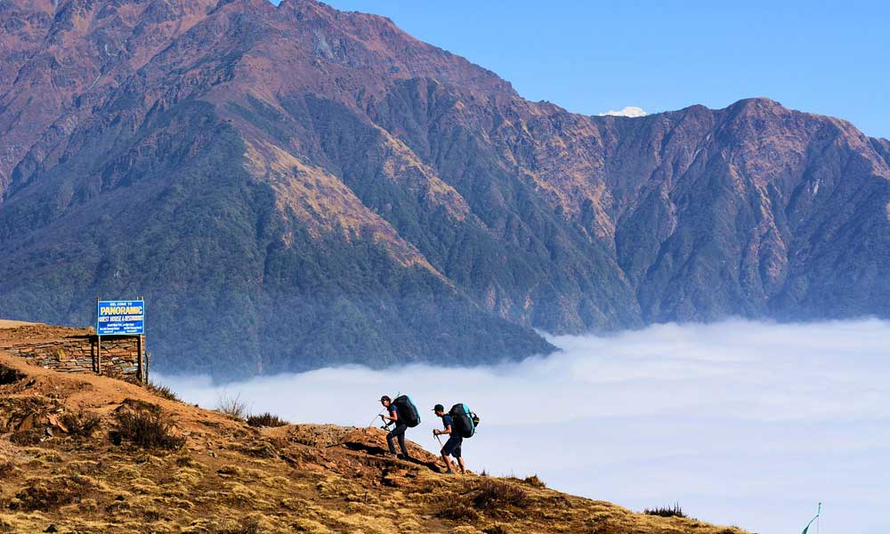 Best trekking countries - Depicts hikers in Nepal on mountain