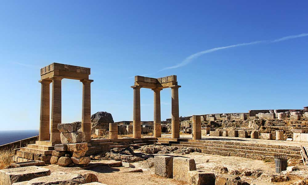 Shows Lindos Acropolis ruins - Things to do in Lindos
