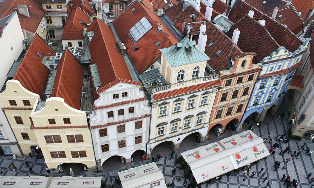 Shows Prague architecture - Best Prague hotels