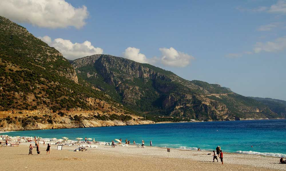 Cheap holiday destinations in August - shows Marmaris Beach, Turkey