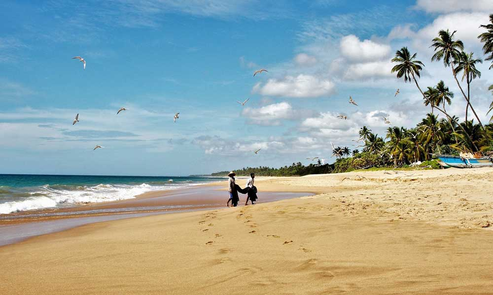 August holiday ideas - shows beach in Sri Lanka