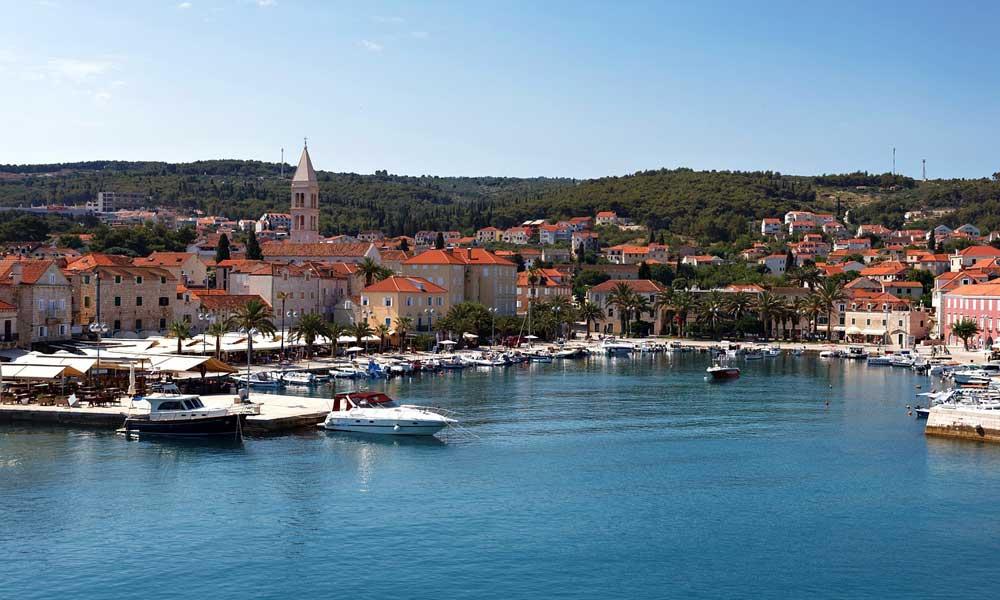 Shows Hvar marina yachts
